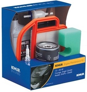 Kohler Engine Part # 20-789-01-S 2078901S Engine Maintenance Kit for 15HP - 20HP Courage Single Cylinder Models SV470 - SV600