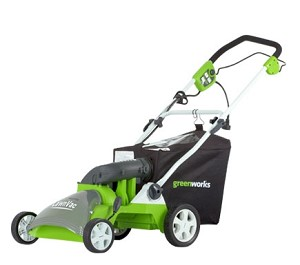 "GreenWorks 26262 (16"") 14-Amp Electric Lawn Vacuum DISCONTINUED"