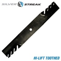 Silver StreakTooth Mulcher Lawn Mower Blade For Wright Stander # 71440003 1520842 .250 Thickness